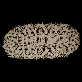 Lovely Ecru Crochet Bread Doily