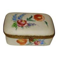 19th Century French Porcelain Dresser Box