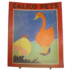1931 Children's Book Calico Pets by Fern Bisel Peat
