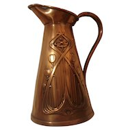 Vintage Copper pitcher J, S. & S. Made in England