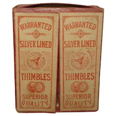 Vintage Store Display Thimble Box England