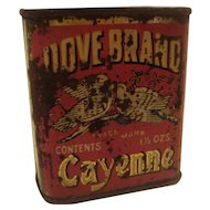 Vintage Dove Brand Spice Tin Cayenne