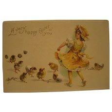 Easter Postcard Chicks