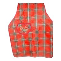 Vintage Tartan Plaid Child's Apron