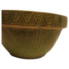 Unusual Green Stoneware Bowl