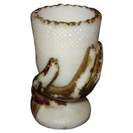 EAPG Milk Glass Toothpick Holder - Beggars Hand