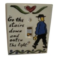 Mon-Aire Pottery Switch Plate Cover