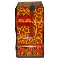 Louis Marx Tin Bank Benjamin Franklin Thrift Bank