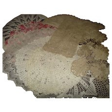 Nice Group of 8 Vintage Doilies