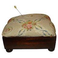 Vintage Sewing Footstool Ottoman Pin Cushion
