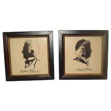 Millard Fillmore & Abigail Fillmore Silhouette