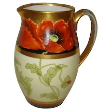 Pickard China Poppy Water Pitcher