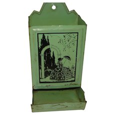 Vintage Green Silhouette Match Holder
