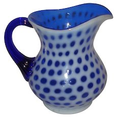 Fenton Glass Tiny Coin Dot Pitcher