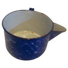 Blue & White Graniteware Strainer