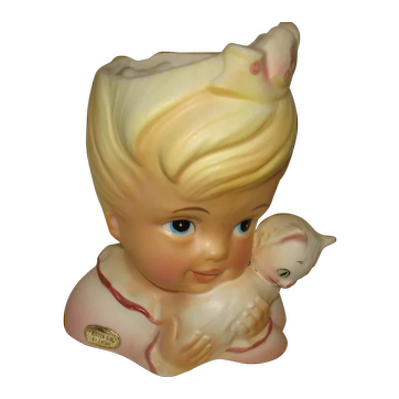 "Enesco ""Kitten Girl"" Headvase"