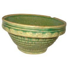 McCoy Pottery Green Stoneware Bowl
