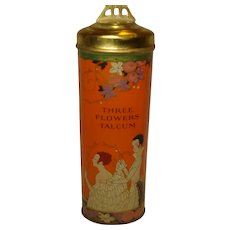 Richard Hudnut Three Flowers Deco Powder Tin