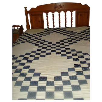 Vintage Blue & White Quilt Top