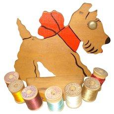 Vintage Scotty Dog Thread Holder