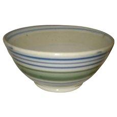 Striped Staffordshire England Bowl