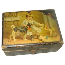 Vintage Clark's Sewing Spool Box