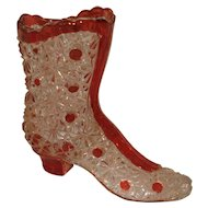 Ruby Flash Ruby Stain Glass Boot Shoe