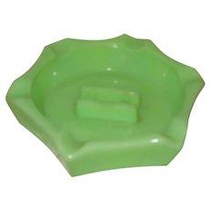 Jadite Jadeite Glass Ashtray Hexagon Shape