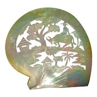 Early Carved Mother of Pearl Plaque