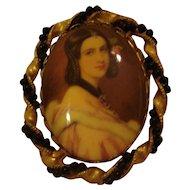 Vintage Portrait Pin