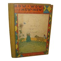 Vintage Children's Book Bow-Wow and Mew-Mew