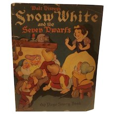 Early Walt Disneys Snow White & The Seven Dwarfs Story Book 1938