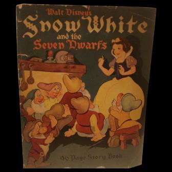 Early Walt Disneys Snow White & The Seven Dwarfs Story Book 1938