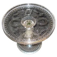 EAPG Prayer Rug Glass Cake Stand