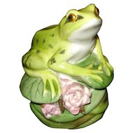 Royal Adderley Porcelain Frog Figurine