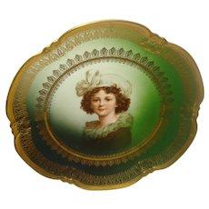 Bavaria Porcelain Portrait Plate