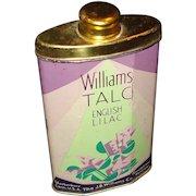 Vintage Williams English Lilac Talc Tin