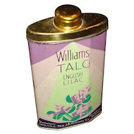 Vintage Williams English Lilac Talc Tin