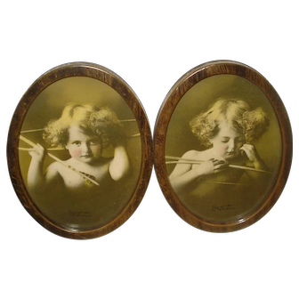 Early Double Framed Cupid Awake Picture