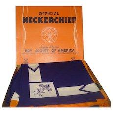 Vintage Boy Scouts Neckerchiefs In Original Box