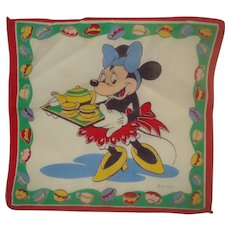 Vintage Minnie Mouse Disney Handkerchief
