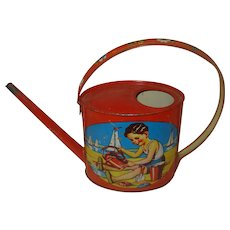 Vintage Child's Toy Watering Can Sprinkler