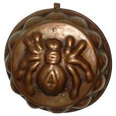 Early Copper Jelly Mold Spider