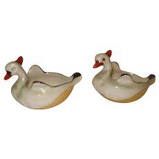 Noritake Porcelain Swan Salt Dips
