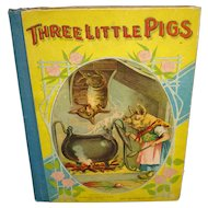 Vintage Book Three Little Pigs