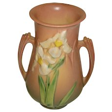 Roseville Pottery  Vase Iris Dusty Pink