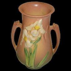 Roseville Pottery  Vase Iris Dusty Pink
