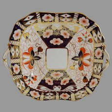 Cake Plate ~ Imari 5500 Pattern ~ Aynsley Bone China England ~ Stoke on Trent Prior to 1891