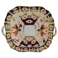 Cake Plate ~ Imari 5500 Pattern ~ Aynsley Bone China England ~ Stoke on Trent Prior to 1891