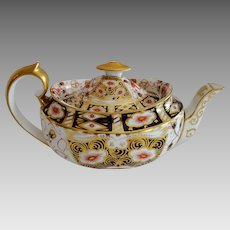 Teapot ~ Imari 5500 Pattern ~ Aynsley Bone China England ~ Stoke on Trent Prior to 1891